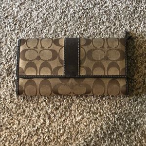 Brown and tan coach Wallet